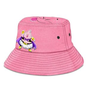 Chibi Majin Buu Dragon Ball Z Pink Cute and Cool Bucket Hat