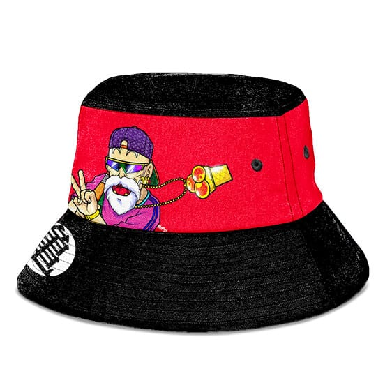 Cool Master Roshi Dragon Ball Z Red and Black Bucket Hat