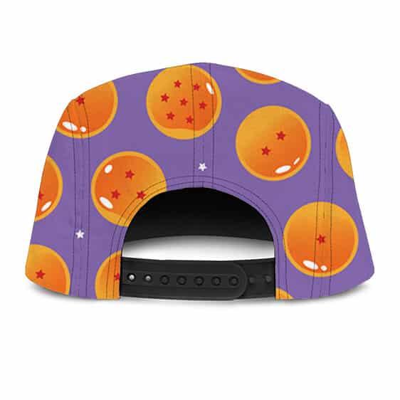 DBZ Dragon Balls Pattern Purple Kids Design Fantastic Camper Cap