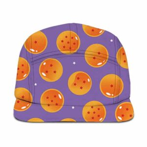 DBZ Dragon Balls Pattern Purple Kids Design Fantastic Camper Cap