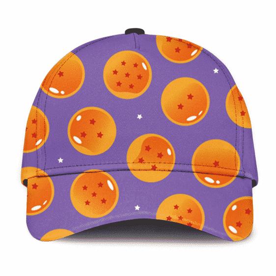 DBZ Dragon Balls Pattern Purple Kids Design Fantastic Trucker Hat