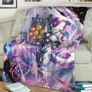 DBZ Frieza With Complete Dragon Balls Amazing Blanket