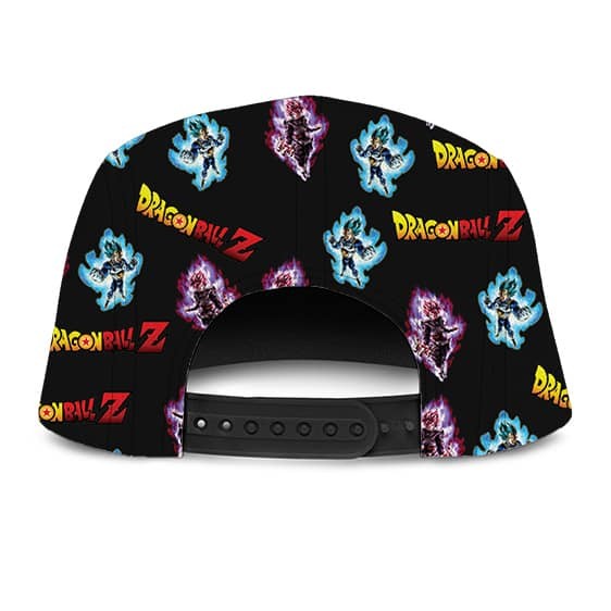 DBZ Goku Black Vegeta Super Saiyan Pattern Awesome Five Panel Cap