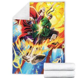 DBZ The Great Saiyan Man And Pan Awesome Throw Blanket