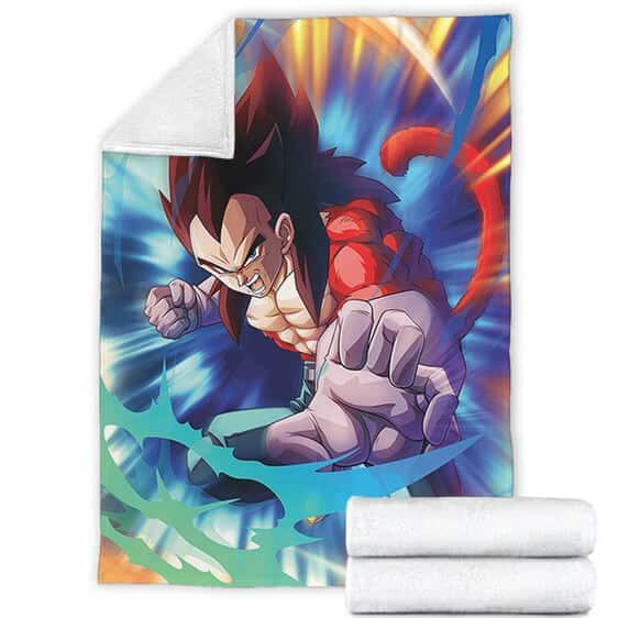 DBZ Vegeta Super Saiyan 4 Striking Pose Fantastic Blanket