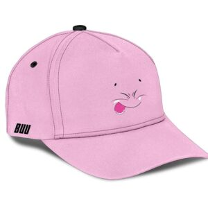 Dragon Ball Adorable Majin Buu Face Funny Pink Baseball Cap