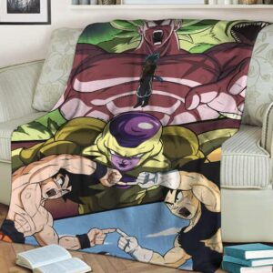 Dragon Ball Broly Movie Frieza Vegeta Goku Piccolo Awesome Fleece Blanket