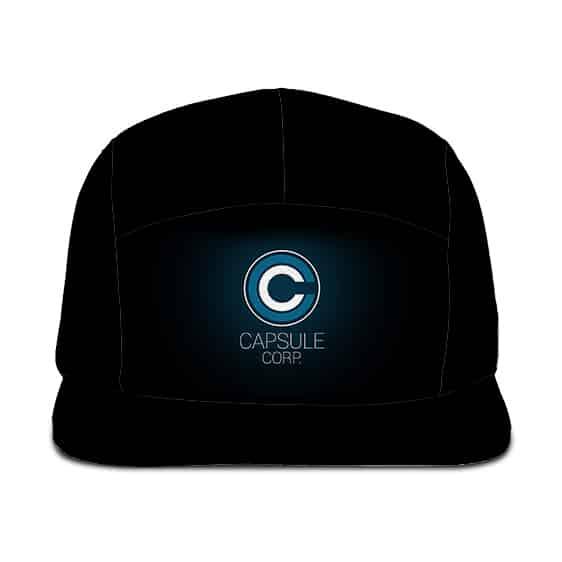 Dragon Ball Capsule Corporation Minimalist Black Five Panel Cap