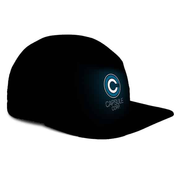 Dragon Ball Capsule Corporation Minimalist Black Five Panel Cap