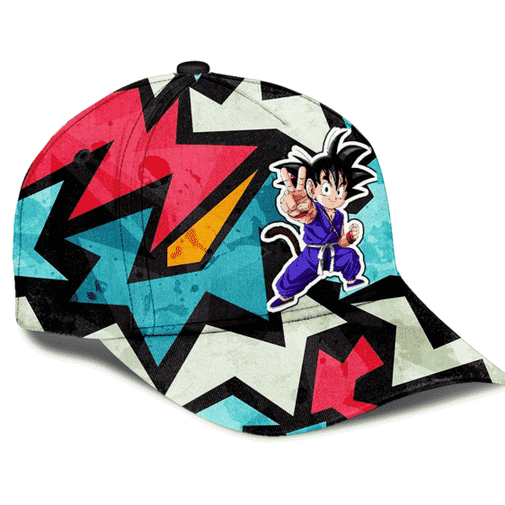 Dragon Ball GT Kid Goku Abstract Dope Artwork Cool Dad Cap