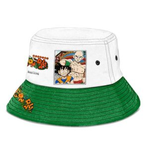 Dragon Ball Goku and Tien Green and White Cool Bucket Hat