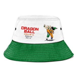 Dragon Ball Goku vs Tien White and Green Powerful Bucket Hat