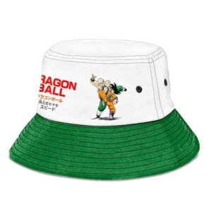 Dragon Ball Goku vs Tien White and Green Powerful Bucket Hat