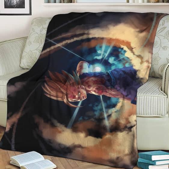 Dragon Ball Kid Gohan SSJ2 Battle Mode Awesome Blanket