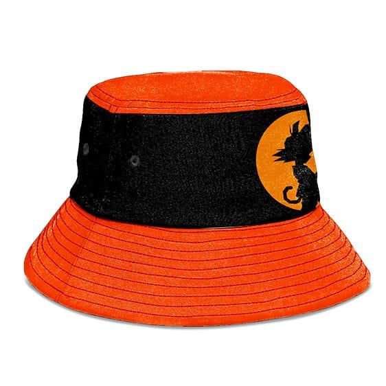 Dragon Ball Kid Goku Orange Black Silhouette Cool Bucket Hat