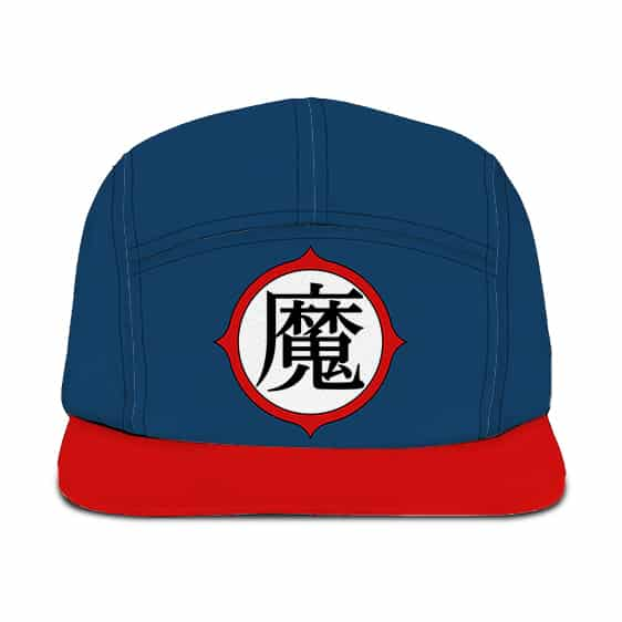 Dragon Ball King Piccolo's Kanji Symbol Cosplay Blue Red Camper Hat