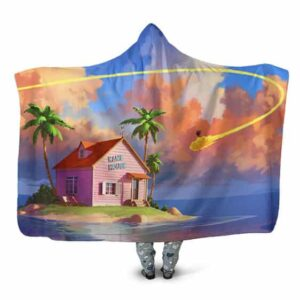 Dragon Ball Kiton Nimbus Cloud Trail Kame House Hooded Blanket