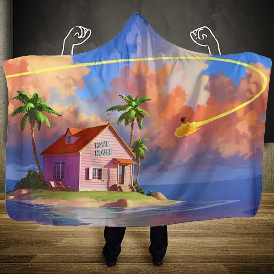 Dragon Ball Kiton Nimbus Cloud Trail Kame House Hooded Blanket