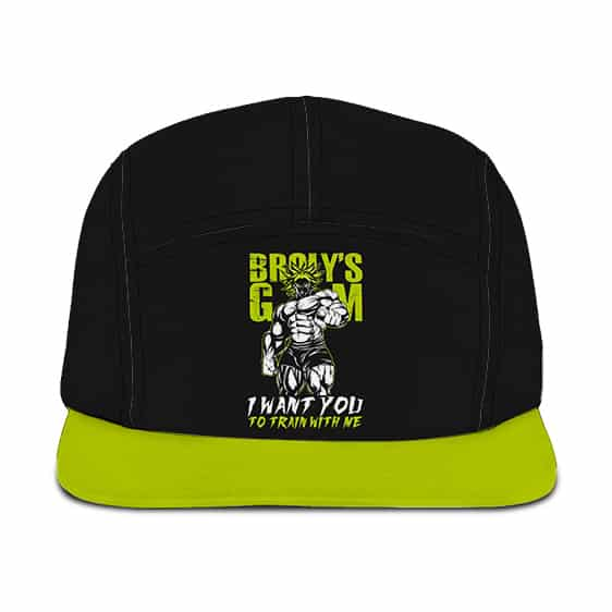 Dragon Ball Legendary Broly Train With Me Neon Green Camper Cap