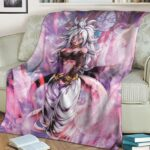 Dragon Ball Legends Beautiful Android 21 Rosy Pink Fleece Blanket