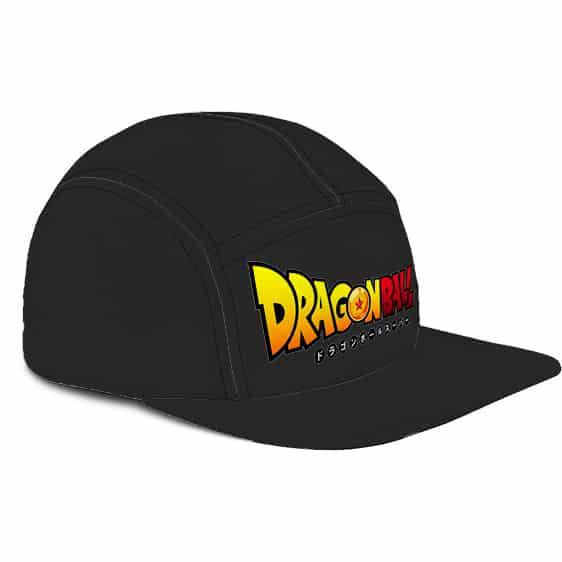 Dragon Ball Logo Minimalist Black Awesome Five Panel Cap