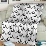 Dragon Ball Majin Symbol Minimalist White Awesome Fleece Blanket