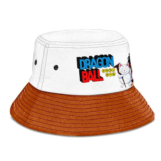 Dragon Ball Master Karin and Yajirobe White Brown Bucket Hat
