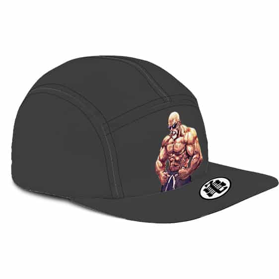 Dragon Ball Master Roshi Pumped Up Kanji Gray Camper Cap