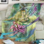 Dragon Ball Old School Broly Artwork Wonderful Cozy Blanket