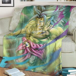 Dragon Ball Old School Broly Artwork Wonderful Cozy Blanket