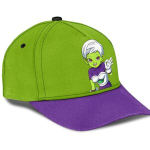 Dragon Ball Sexy Cheelai Green Purple Cool Dad Baseball Hat
