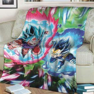 Dragon Ball Son Goku And Vegeta Attack Mode SSGSS Blanket