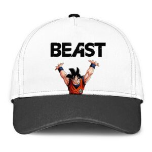 Dragon Ball Son Goku Beast White Gray Minimalist Dad Baseball Hat