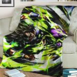 Dragon Ball Super Broly Base Form Awesome Throw Blanket