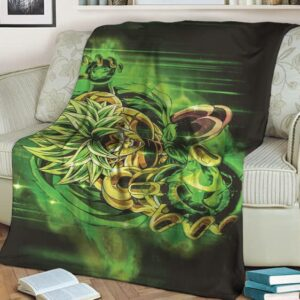 Dragon Ball Super Broly Green Ball Of Energy Blanket