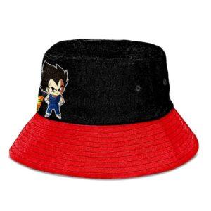 Dragon Ball Super Chibi Vegeta Black and Red Cool Bucket Hat