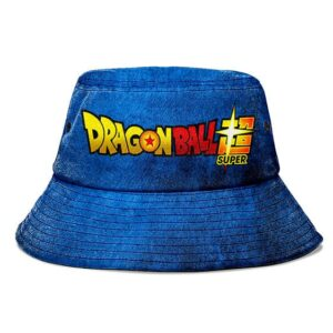 Dragon Ball Super Dark Blue Grunge and Powerful Bucket Hat