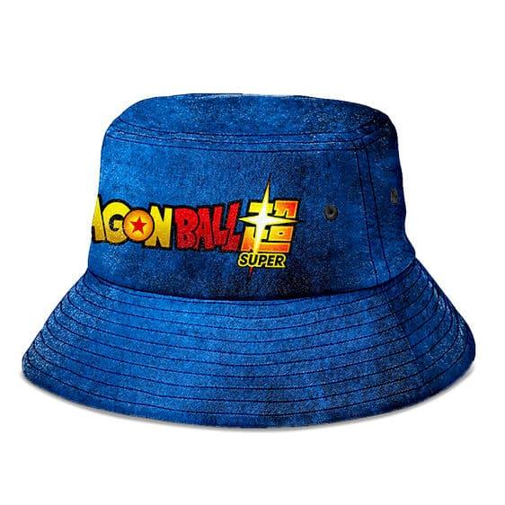 Dragon Ball Super Dark Blue Grunge and Powerful Bucket Hat