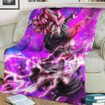 Dragon Ball Super Goku Black Super Saiyan Rose Legendary Art Fleece Blanket