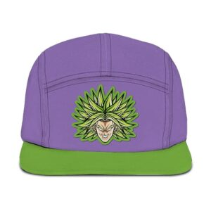 Dragon Ball Super Legendary Broly Flat Design Purple Green Camper Hat