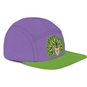 Dragon Ball Super Legendary Broly Flat Design Purple Green Camper Hat