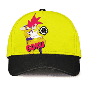 Dragon Ball Super Saiyan God Form Goku Wisdom Kanji Baseball Cap