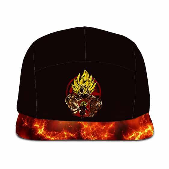 Dragon Ball Super Son Goku SSJ2 Cool Artwork Fire Black Camper Cap