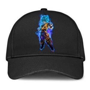 Dragon Ball Super Son Goku Super Saiyan Blue Black Baseball Hat