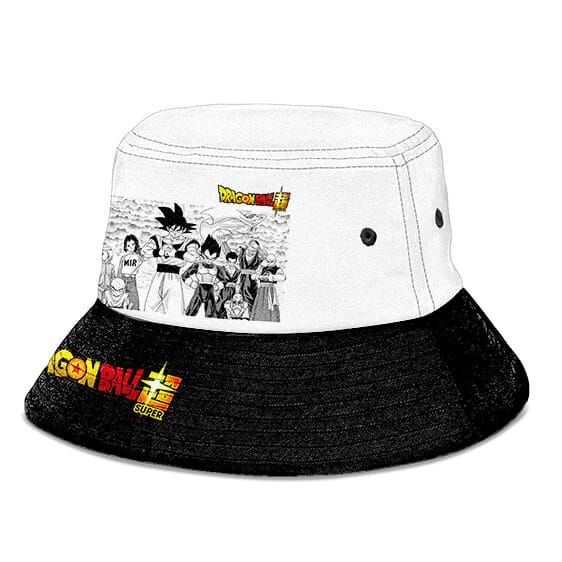 Dragon Ball Super Z-Fighters Black White Powerful Bucket Hat