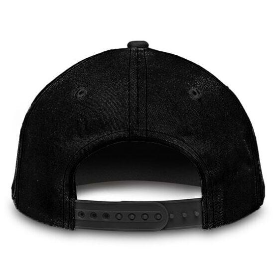 Dragon Ball Vegeta Conquer Minimalist Black Gym Baseball Hat