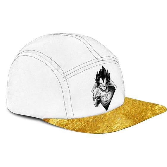Dragon Ball Vegeta Middle Finger Gucci Gold Dope 5 Panel Hat