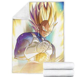 Dragon Ball Vegeta Super Saiyan 2 Thumbs Up Charged Up Fleece Blanket