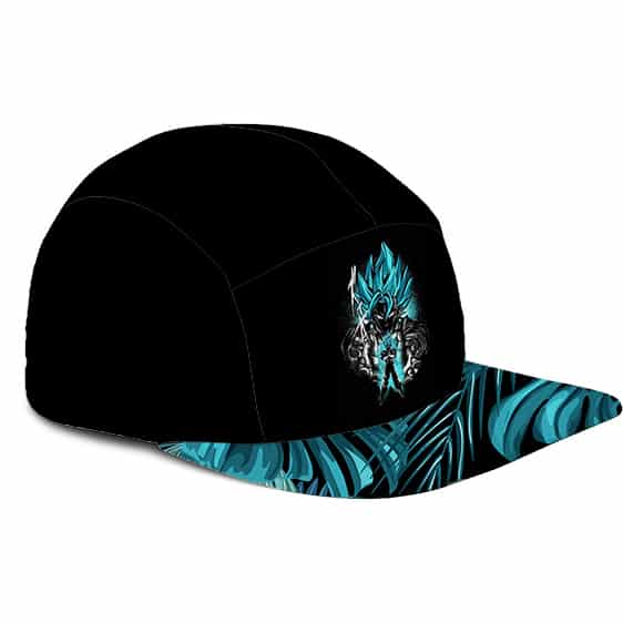 Dragon Ball Vegito Super Saiyan Blue Minimalist Breezy 5 Panel Hat