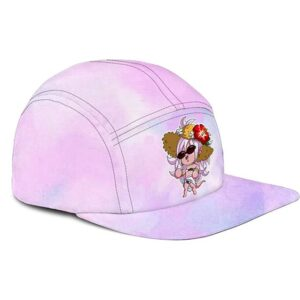 Dragon Ball Z Android 21 Chibi Cute Summer Watercolor Pink Camper Hat